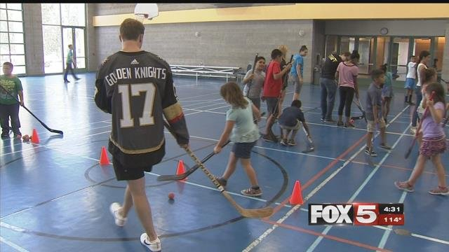 Golden Knights players are already showing a presence in Las Vegas. (FOX5)