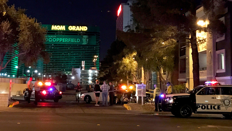 Las Vegas Metro police said they are investigating a suspicious device on June 22, 2017. (Gai Phanalasy/FOX5)