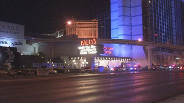 Police at the scene of a shooting at Bally's hotel-casino in Las Vegas on June 23, 2017. (Luis Marquez/FOX5)