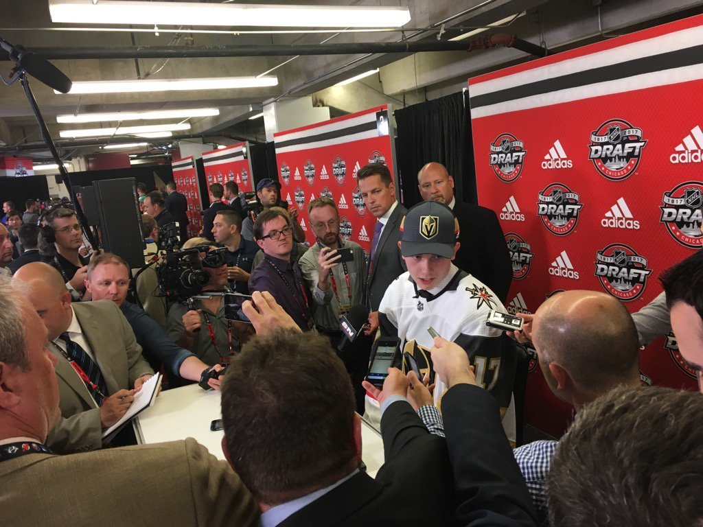 Cody Glass is the first ever Golden Knights pick in the NHL Entry Draft. (FOX5)