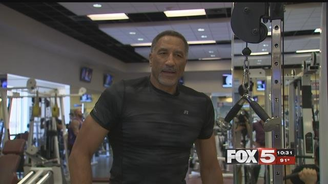 A 61-year-old Las Vegas grandpa is training for the NBA. (FOX5)