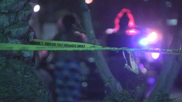 Crime tape marks the scene of a deadly officer-involved shooting on June 25, 2017. (Roger Bryner/FOX5)