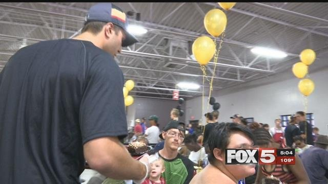 The Golden Knight served lunch to the community on June 27, 2017. (FOX5)
