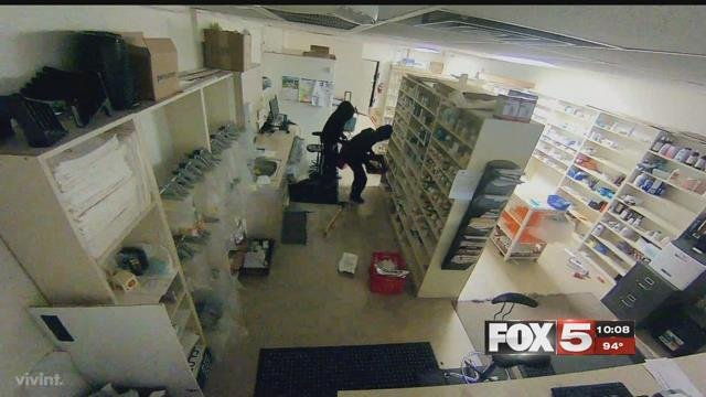 Nearly $2,000 worth of drugs were stolen from a Las Vegas pharmacy.