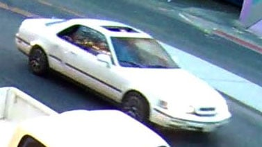 Police are looking for a vehicle involved in a shooting on Fremont Street on June 25, 2017. (Source: LVMPD)
