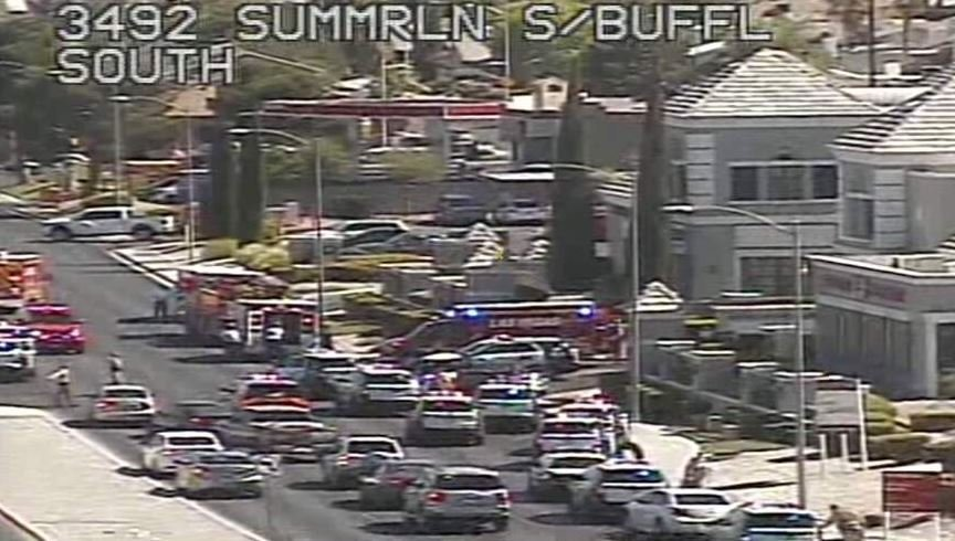 Police responded to a medical center after a shooting injured several people inside. (Source: LVACS)