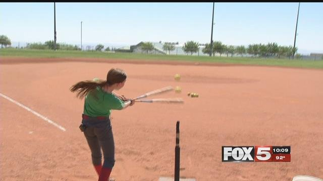 A 10-year-old girl will compete at the 2017 MLB All Star Game. (Robbie Hunt / FOX5)