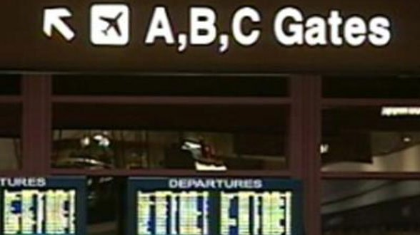 Signs are shown at McCarran Airport in an undated image. (File/FOX5)