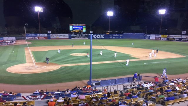 The Las Vegas 51s play ball during a Fourth of July game (Vince Sapienza/FOX5).