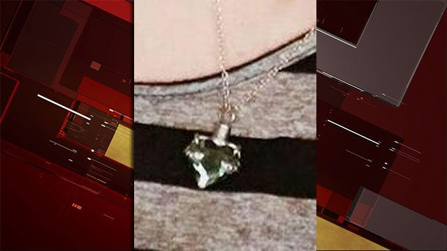 Jennifer Harris said this is the locket that was taken from a gym locker. (Source: Jennifer Harris)