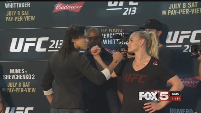 Amanda Nunes and Valentina Shevchenko were set to face off at UFC 213. (FOX5)
