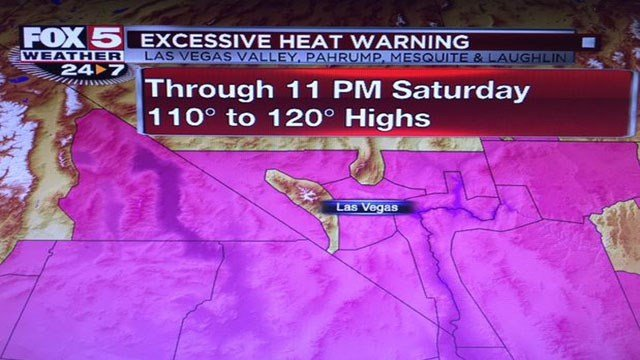 Excessive Heat Warning issued for Southern Nevada. (FOX5)