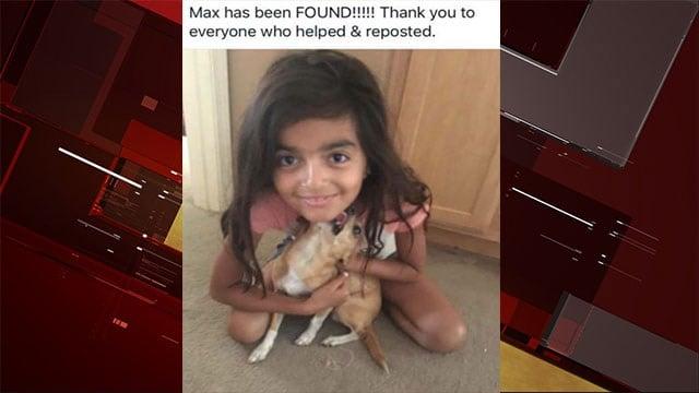 Alexa Arellano, 8, reunited with her Chihuahua Max. (Tatiana Aviles/Facebook)