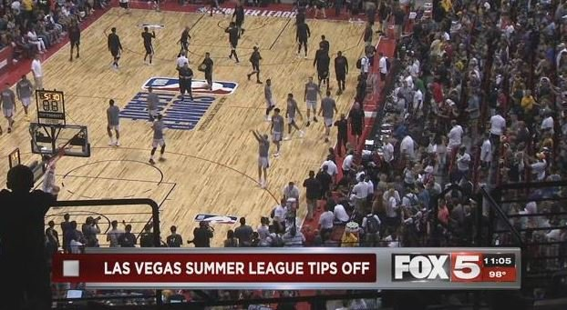 Day 1 of the NBA Summer League in Las Vegas on July 7, 2017. (Eric Hilt/FOX5)