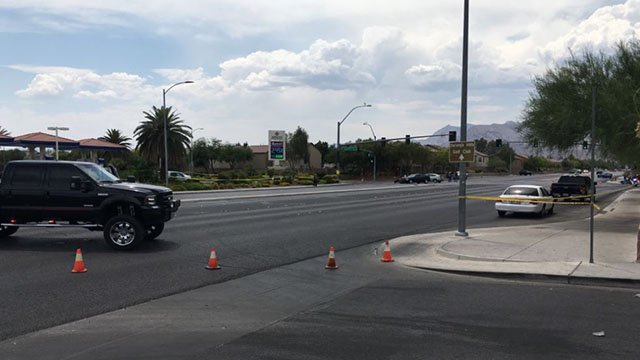Metro at the scene of a fatal crash in northwest Las Vegas on July 8, 2017. (Kurt Rempe/FOX5)
