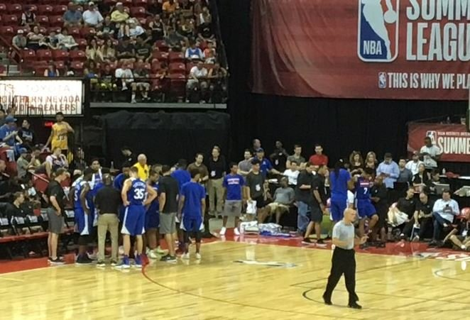 NBA Summer League at the Thomas and Mack Center in Las Vegas on July 8, 2017. (Joe Nelson/FOX5)