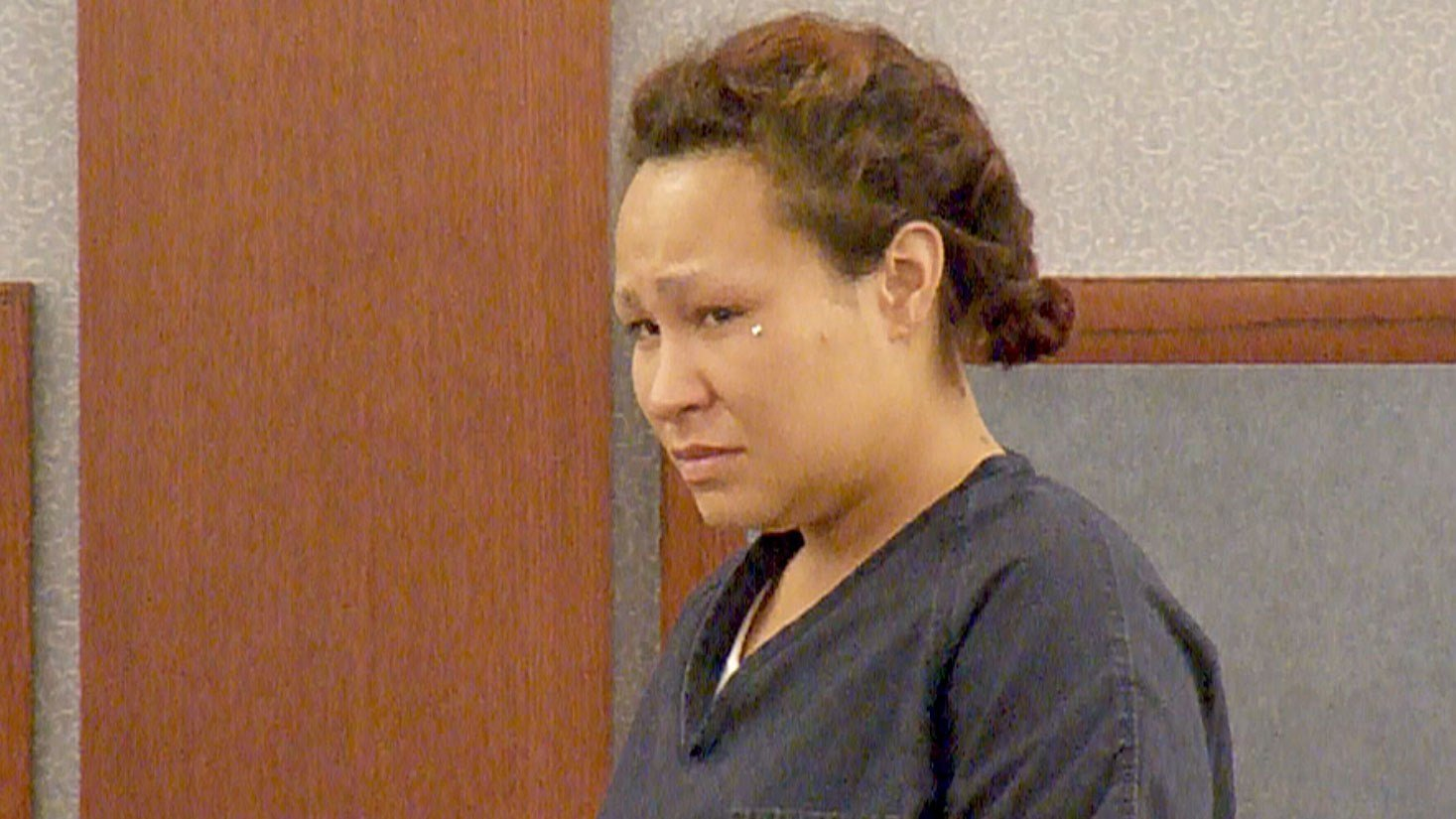 Oriana Leausa appears in Las Vegas Justice Court on July 10, 2017. (Luis Marquez/FOX5)