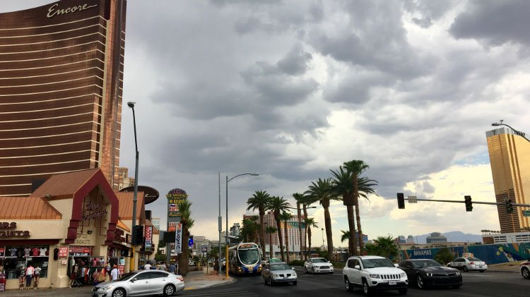Monsoon season began in southern Nevada.