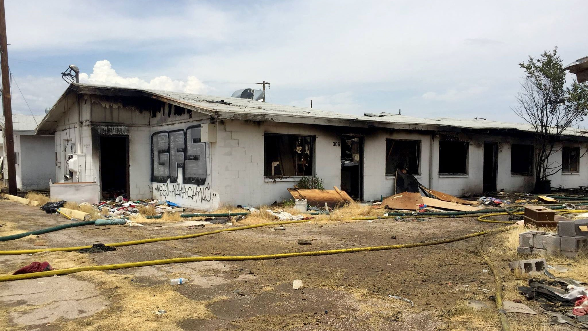 Firefighters responded to another fire at Tree Line Apartments on July 10, 2017.