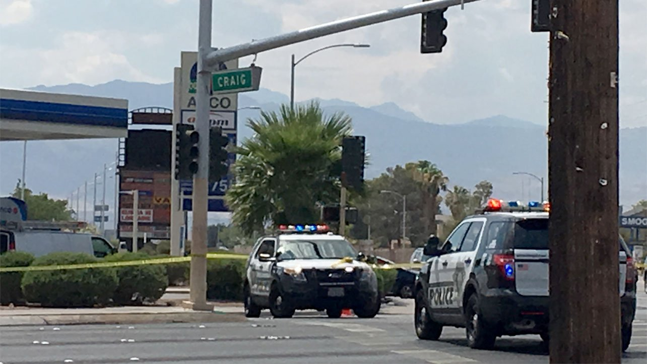 Las Vegas Metro police are investigating an officer-involved shooting on July 11, 2017. (Austin Turner/FOX5)