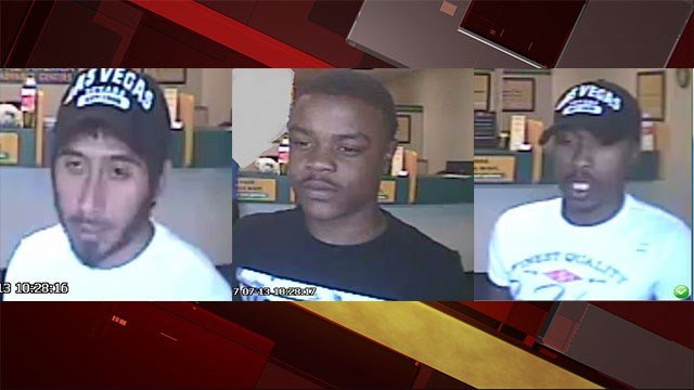 Police said they are searching for three robbery suspects from two cases on July 13, 2017. (LVMPD)