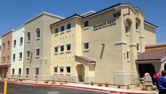The new Shannon West Homeless Youth Center opened on July 14, 2017. (Armando Navarro/FOX5)