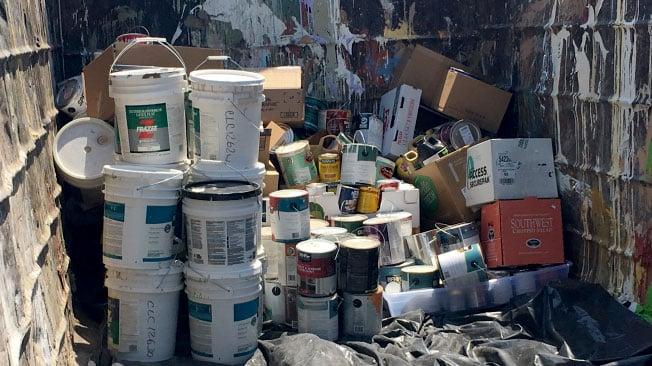 Waste is shown in a trash bin in an undated image. (Peter Dawson/FOX5)