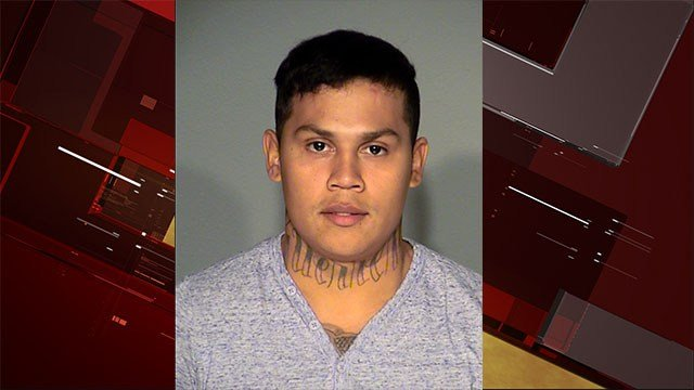 Jonathan Ozuna was arrested for shooting two security guards at the Miracle Mile Shops parking garage. (LVMPD)