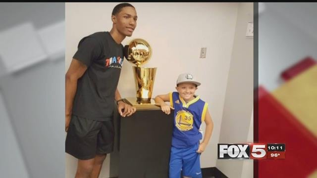 Pat McCaw returned to UNLV with the Larry O'Brien Trophy.