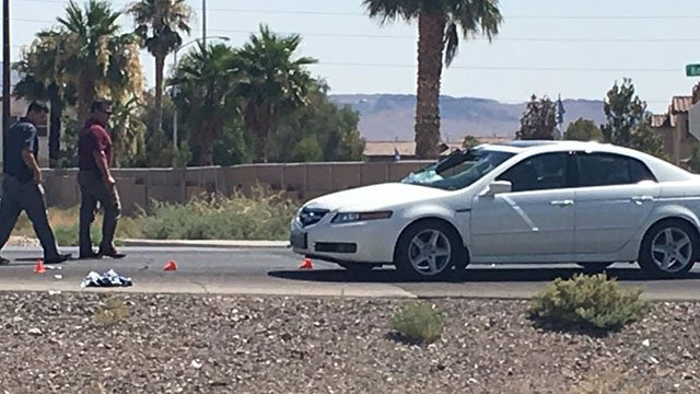Metro officers at the scene of a fatal collision on Boulder Highway on July 15, 2017. (Cherney Amhara/FOX5)