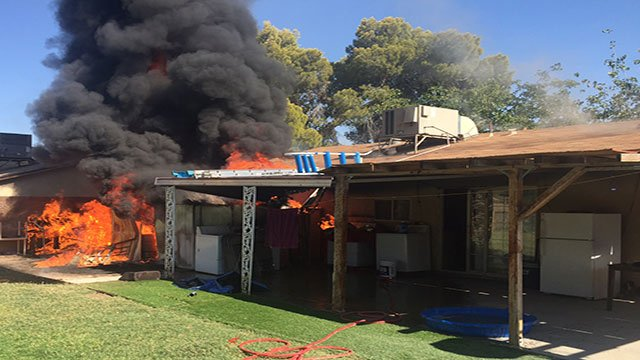 Las Vegas Fire and Rescue responded to a house fire in the east Valley Saturday afternoon (LVFR).