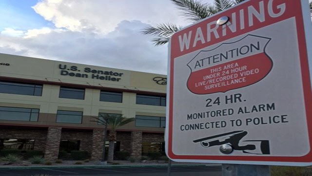 The Las Vegas office of U.S. Sen. Dean Heller (R-NV) show on July 16, 2017 (Kurt Rempe/FOX5).