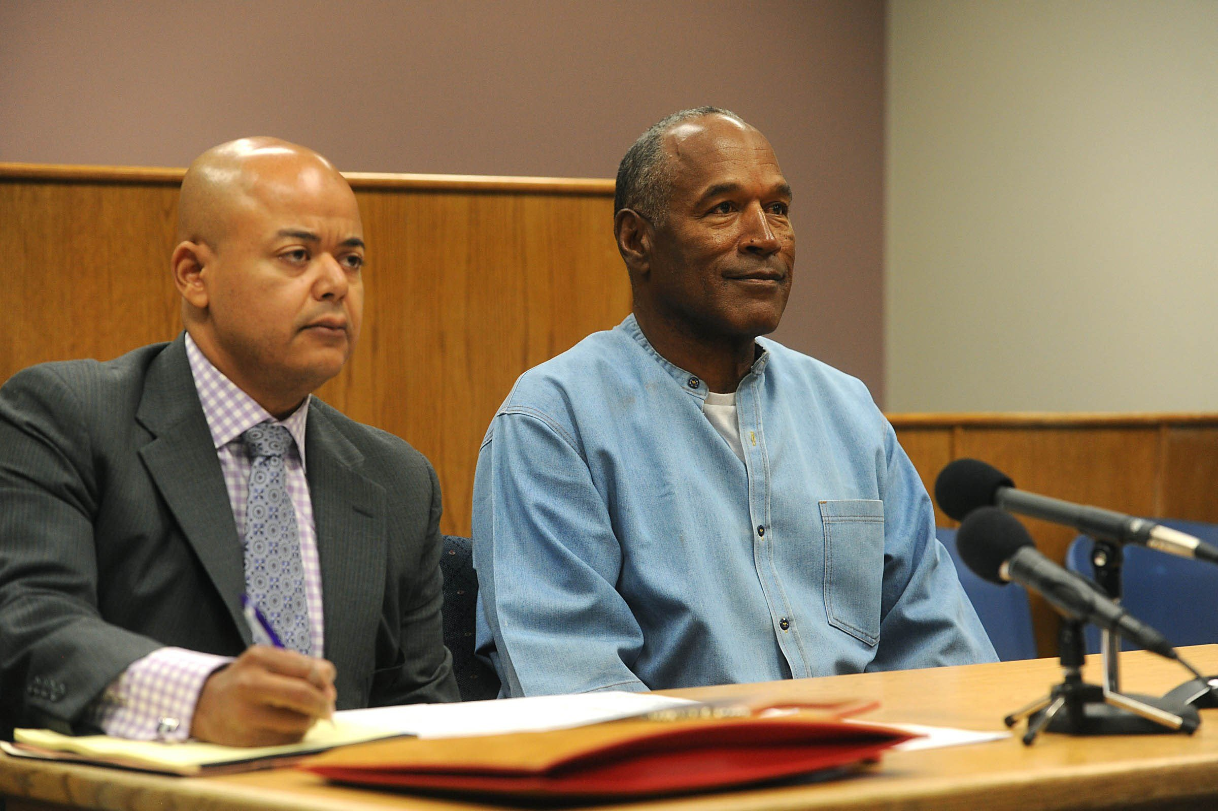 OJ Simpson in Parole Hearing room at Lovelock Correctional Facility