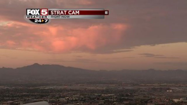 Friday sunrise captured by the Stratosphere camera on July 21, 2017. (Cassandra Jones/FOX5)