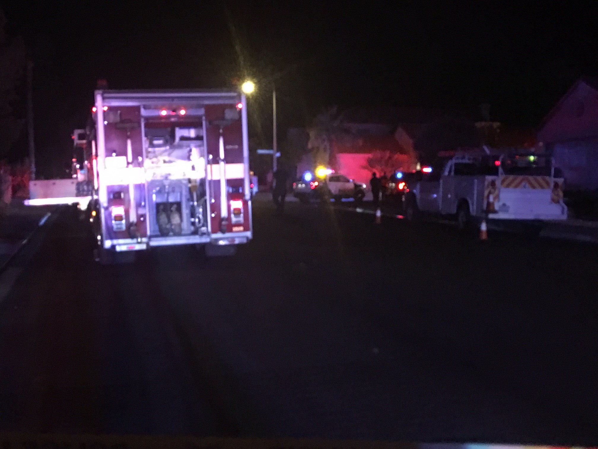 A four-year-old girl was injured in a house fire near Desert Inn Road and Hualapai Way. (Robbie Hunt/FOX5)