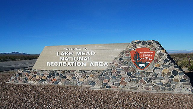 An undated photo of the entrance to Lake Mead Recreation Area (LMRA).