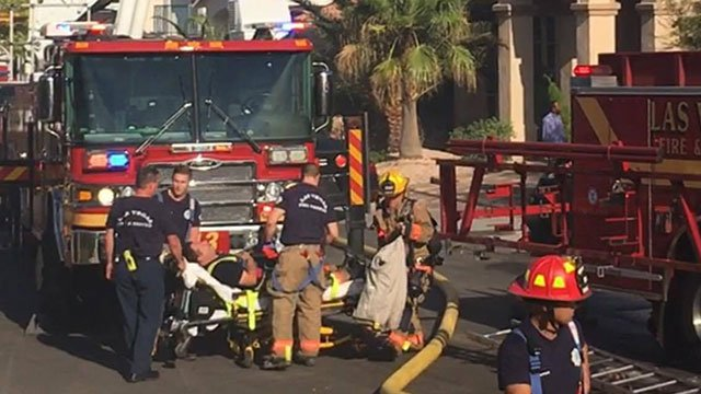 A LVFR firefighter was transported to the hospital following a northwest house fire on July 23, 2017 (Crystal Monis-Hartman/FOX5).