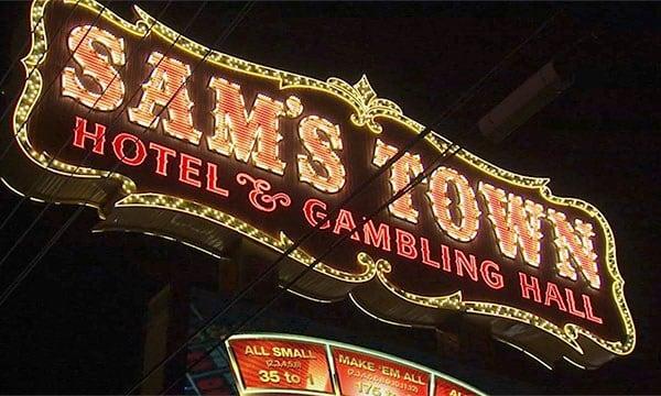 The marquee at Sam's Town on July 24, 2017. (Armando Navarro/FOX5)