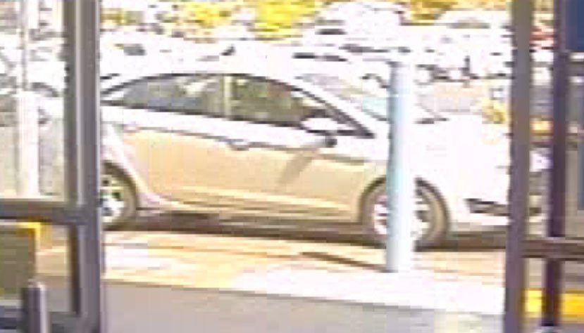 The getaway car stayed parked in front of the store while the robbery occurred (LVMPD).