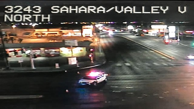 Armed man on a roof causes closure of all four directions at the intersection of Sahara Avenue and Valley View Boulevard (LVACS).