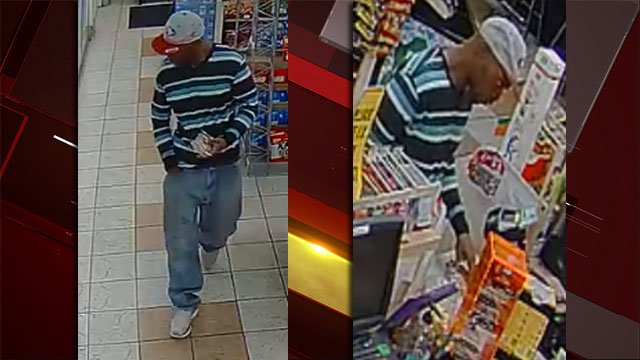 Police said they are searching for a robbery suspect. (Source: LVMPD)