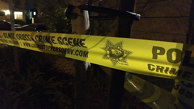 Police tape blocks the road during a murder-suicide investigation (Austin Turner/FOX5).