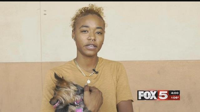 A valley woman was reunited with her dog after it was stolen with her car. (FOX5)