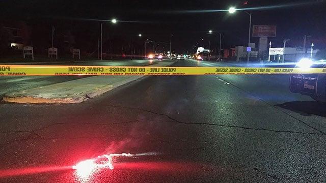 A pedestrian was killed in a hit-and-run crash on July 27, 2017. (Gai Phanalasy/FOX5)