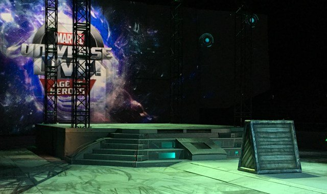 Behind-the-scene look at the Marvel Universe Live production in Las Vegas on July 28, 2017. (Armando Navarro/FOX5)