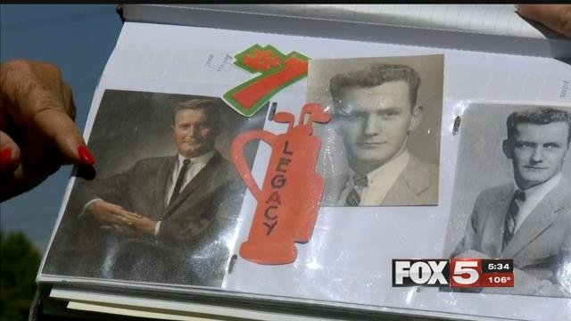 A family said it's looking for a memento of their loved one after the closure of Legacy Golf Club.