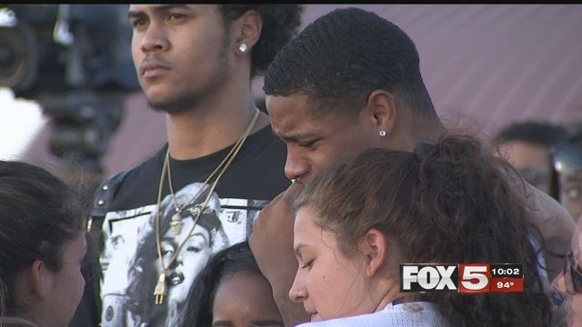 Friends of the late teen support each other through tears (FOX5).
