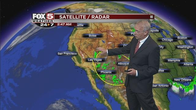 Monsoonal Weather Continues In Southern Nevada