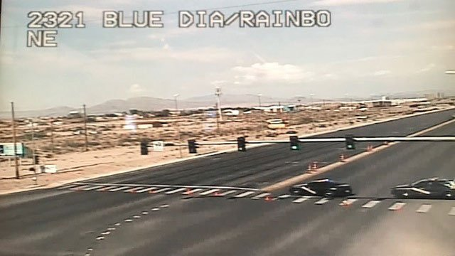 NHP and LVMPD closed down the intersection of Blue Diamond and Rainbow after barricade situation (LVACS).
