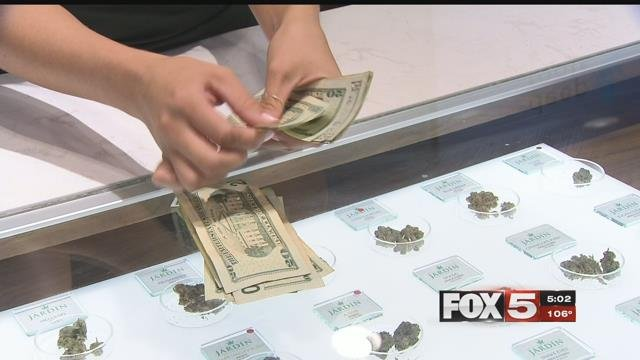 Dispensaries holding large amounts of cash in Las Vegas are targets for thieves. (FOX5)